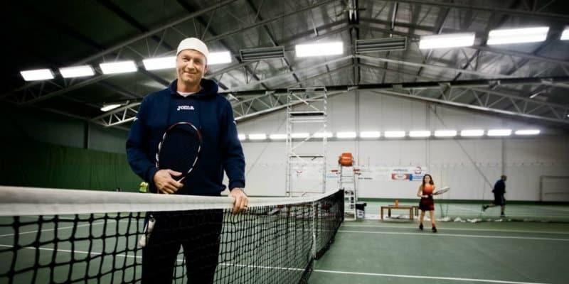 Tennisspelare testar Screen2perform